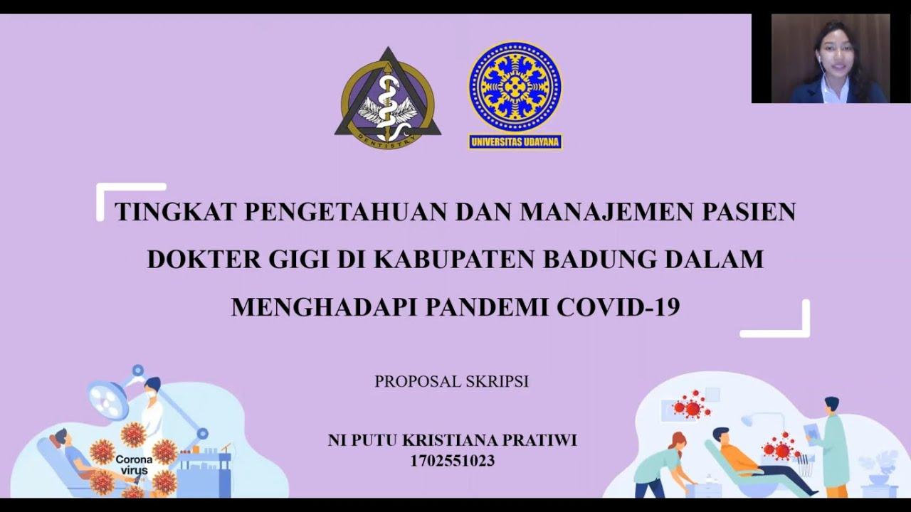 Video Presentasi Proposal Skripsi Ni Putu Kristiana Pratiwi 1702551023 Youtube