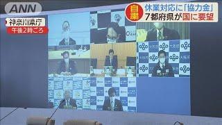 休業者の協力金は・・・7都府県知事が西村大臣とTV会議(20/04/11)