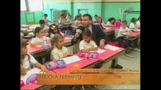 Il primo giorno di scuola per i bambini di prima elementare della