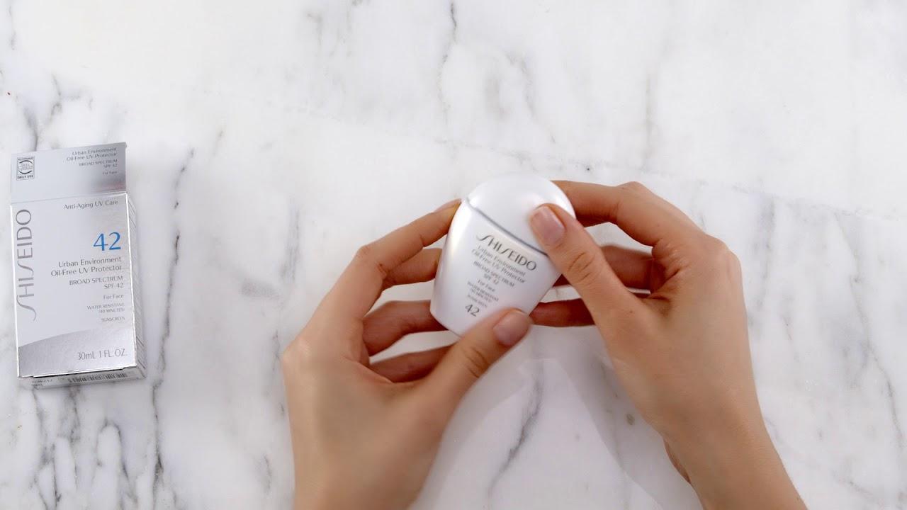 Shiseido Urbanenvironment Oil Free Uv Protector Unboxing Youtube