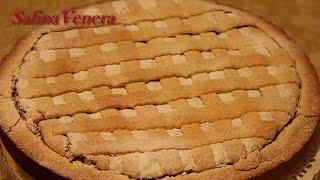 Песочный пирог с вареньем абрикосовым и миндальными орехами.  Очень вкусный!