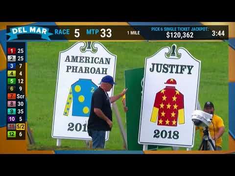 Justify Retirement Parade at Del Mar 7 28 18