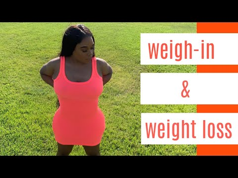 WEIGH-IN + WHAT I'M EATING TO LOSE WEIGHT