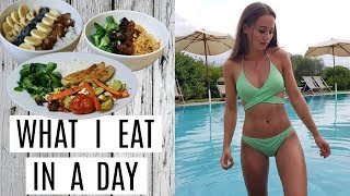 WHAT I EAT IN A DAY | Proteinreiche + Leckere Fitnessrezepte