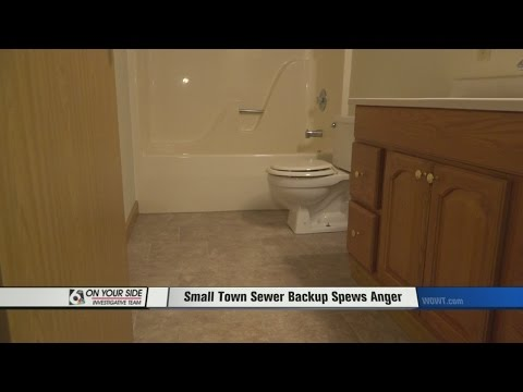 Small Town Sewer Backup Spews Anger