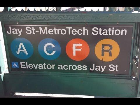 MTA New York City Subway: R32, R46 & R160 (A) (C) (F) (R) Trains @ Jay Street-MetroTech