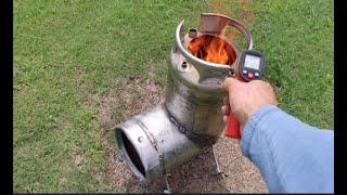 Keg rocket stove