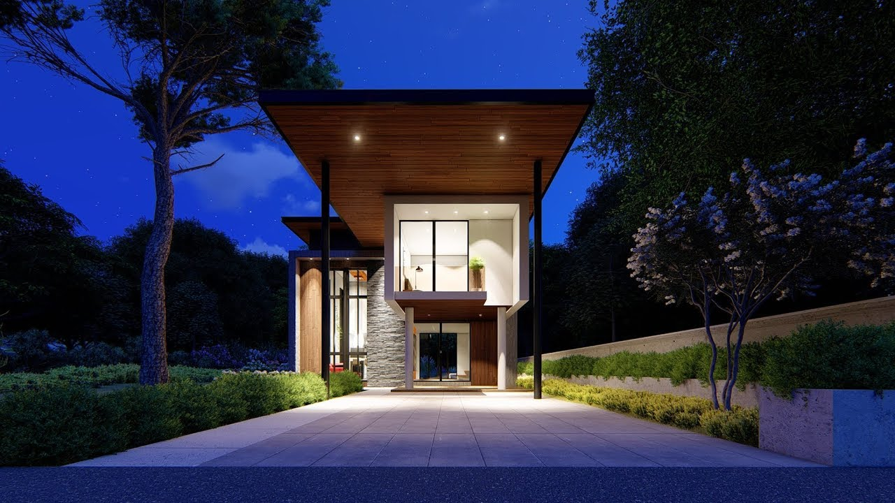 Lumion 8 pro render modern house 1