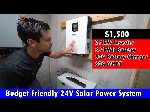 Budget Friendly 24V Solar System: 2.4kW Inverter, 2kW Solar Array, MPPT and 60A Charger $1500