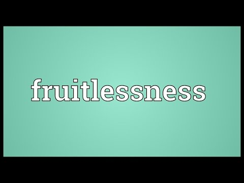 Header of fruitlessness