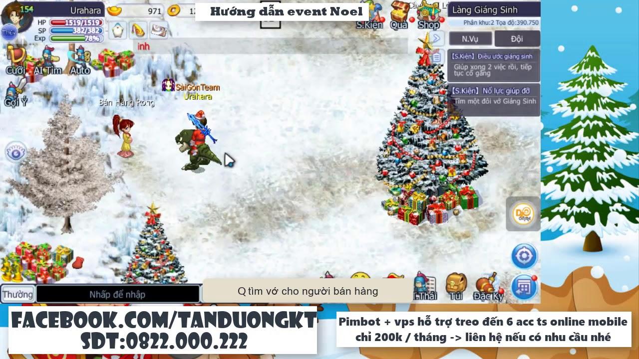 Hướng dẫn sự kiện giáng sinh phần 1 – Dzogame | TS Online Mobile