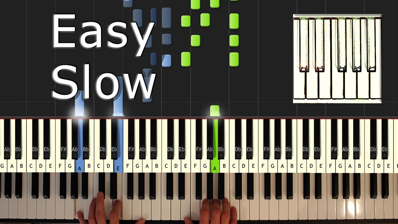 Ed Sheeran - Shape of You - Piano Tutorial Easy SLOW (INSTRUMENTAL) - How  To Play (Synthesia)