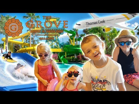 ORLANDO FLORIDA FUN FAMILY VLOG | TRAVEL DAY | GROVE RESORT AND SPA| WATERPARK | SURF MACHINE |