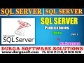 Sql Server tutorial || onlinetraining||date functions Part-1 by Narayana