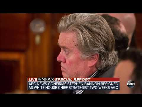 LIVE: Steve Bannon is OUT as White House chief strategist
