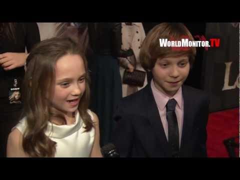 Daniel Huttlestone and Isabelle Allen ed at 'Les Miserables' New York Premiere