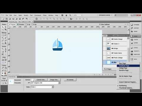 Tutorial: Adobe Fireworks CS5 for Beginners Lesson 8 - Using Pages