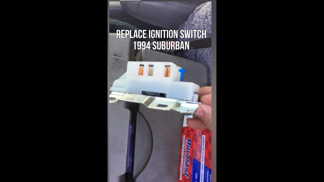 replace ignition switch chevy truck suburban 1500 [ 1280 x 720 Pixel ]