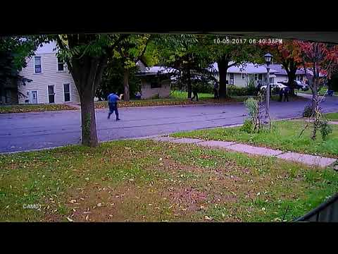 Security camera footage of St. Paul police shooting Oct. 5, 2017