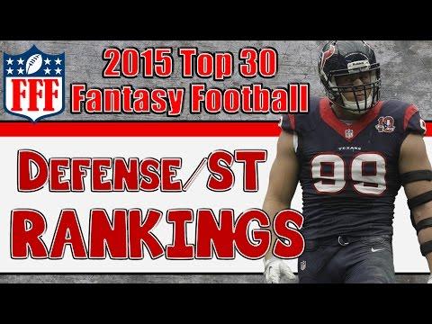 Preseason Top 30 Defense/Special Teams Rankings || 2015 Fantasy Football