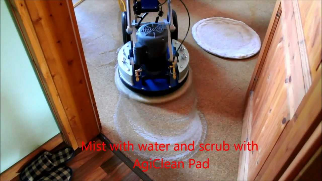 orbot cleaning cork floor - youtube
