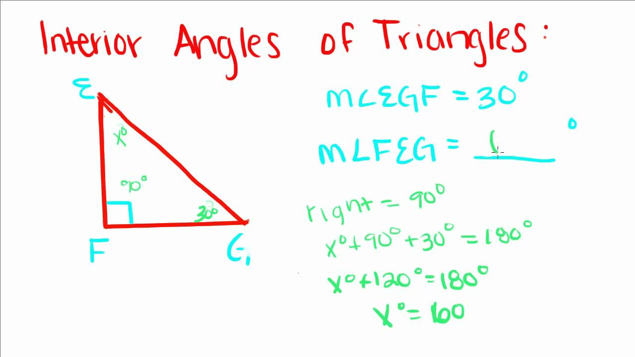 Introduction To Geometry   7   Interior Angles Of Triangles