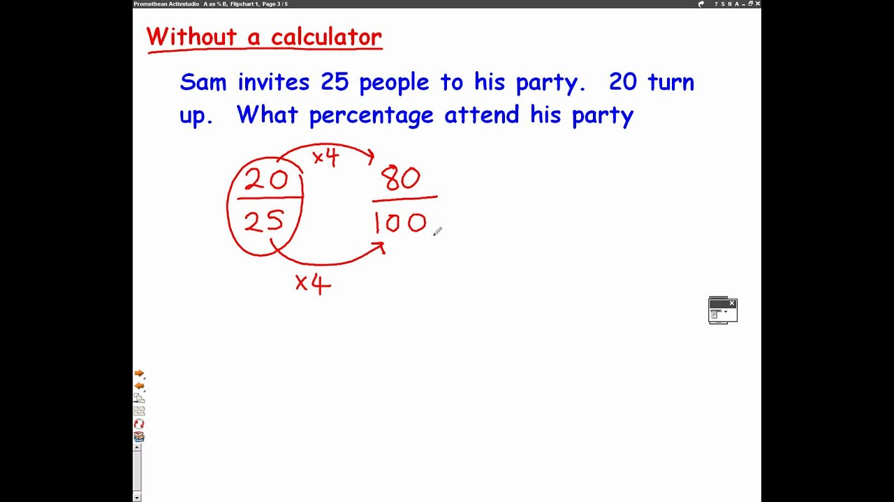 worksheet Converting Between Percents Decimals And Fractions Answers fractions to percentages mathscast youtube