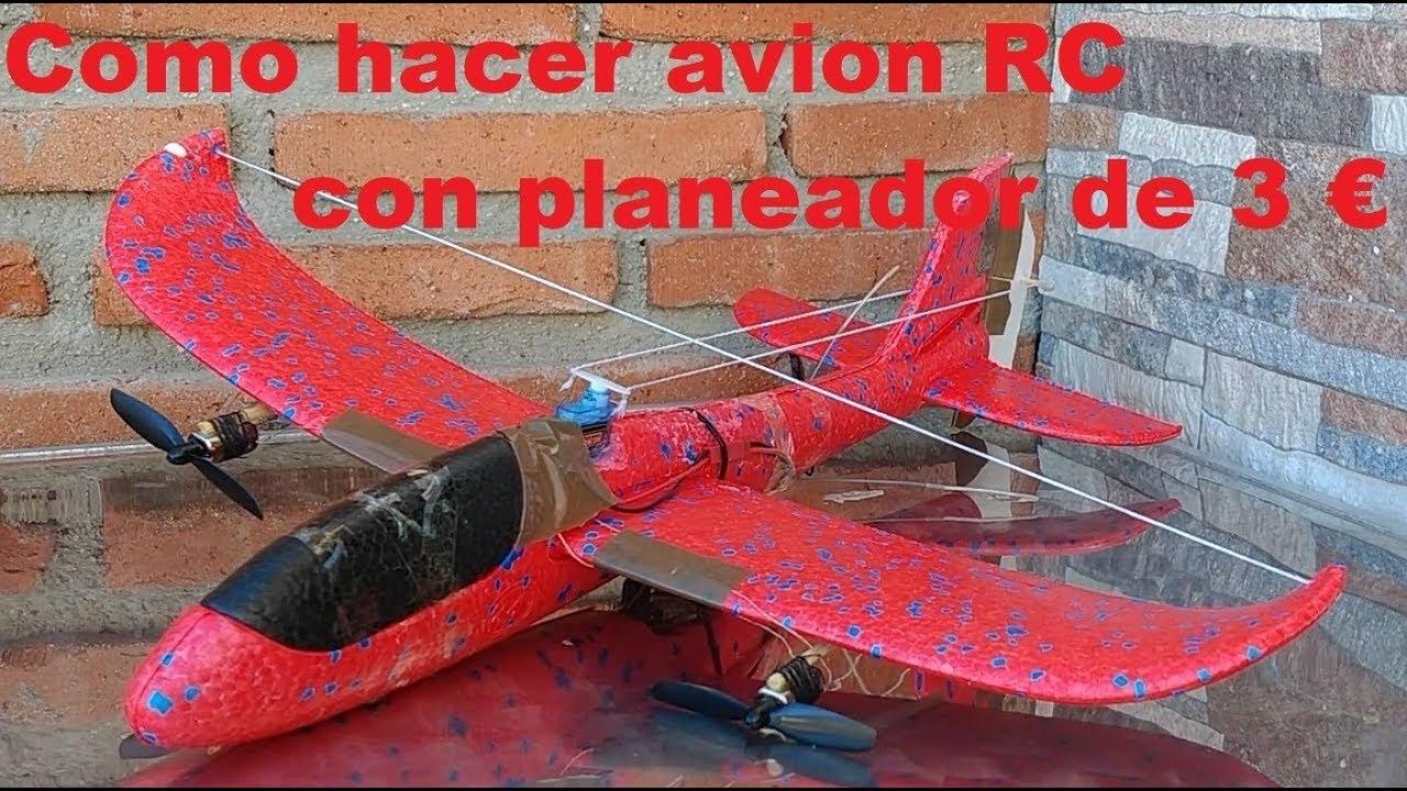 Como Convertir Planeador Epp En Avion Bimotor De Radiocontrol De Dos Canales Rc Youtube