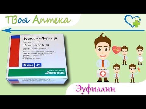 Эуфиллин ампулы - показания (видео инструкция) описание, отзывы