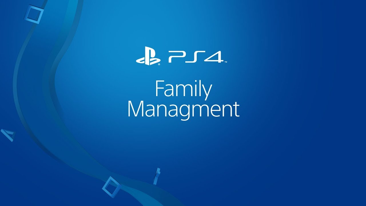 PS4 Family Management video