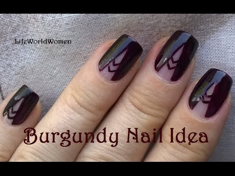 Burgundy Tape Nail Art Tutorial Easy Negative Space Nails Youtube