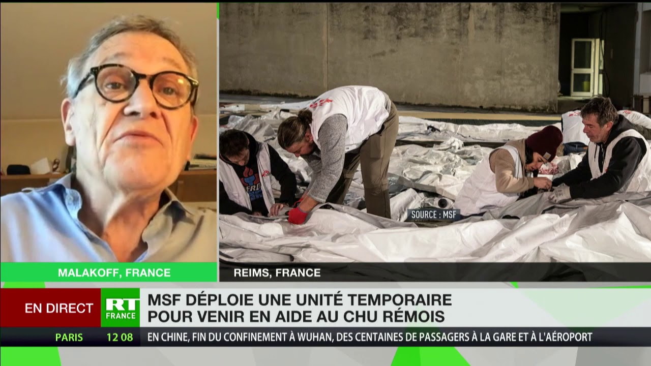Rony Brauman commente l'aide apportée par MSF au CHU de Reims
