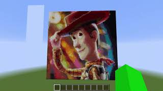 Toy Story 4: Woody Poster (Minecraft Pixel Art)