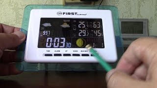 Установка дати і часу на метеостанції FIRST FA 2461 1