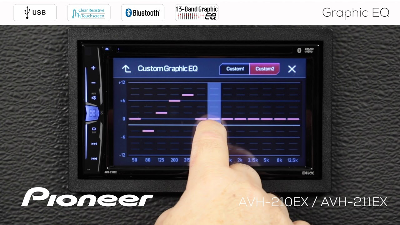 How To - AVH-210EX / 211EX - 13-Band Graphic Equalizer Settings