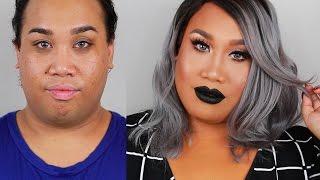 smokey eye and black lips makeup tutorial   patrickstarrr