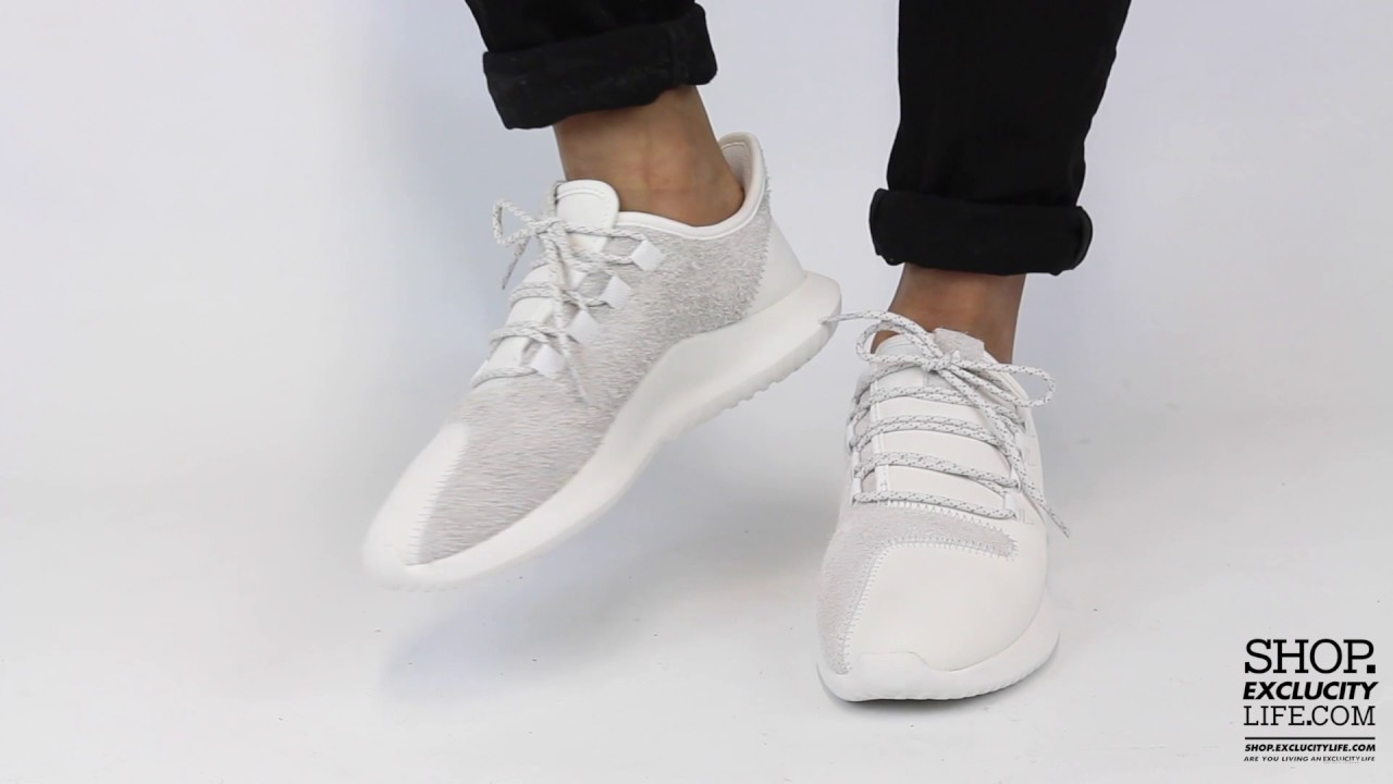 a3e6ebd3b04 Adidas Tubular Shadow White Off White On feet Video at Exclucity ...