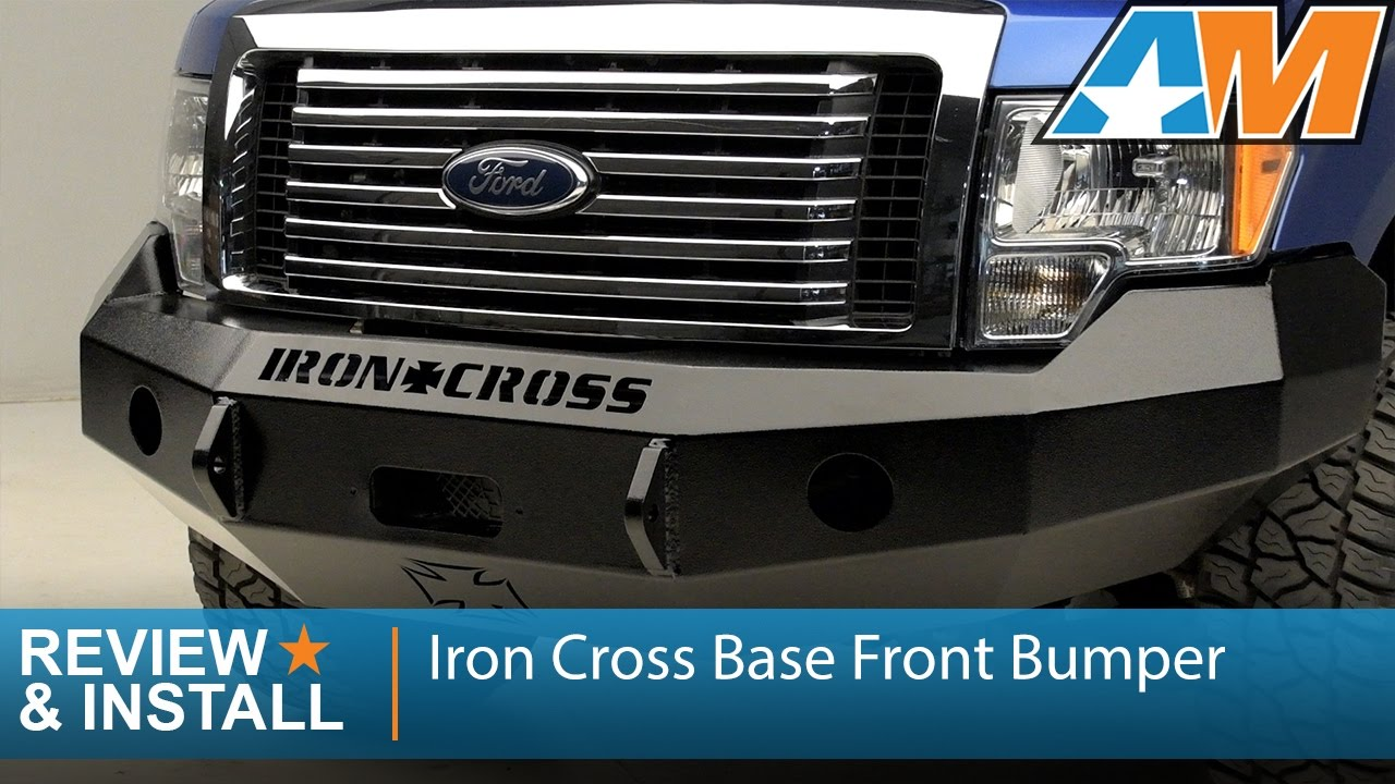 2009 2014 ford f 150 iron cross base front bumper review install youtube [ 1280 x 720 Pixel ]