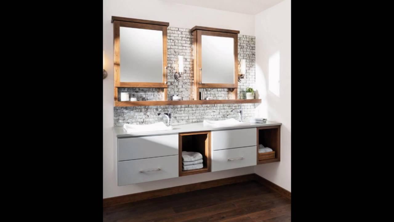 floating bathroom vanity - YouTube