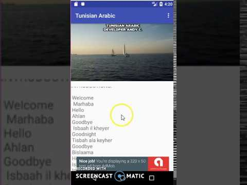 Tunisian Arabic app demo