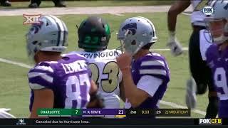 Charlotte vs Kansas State Football Highlights