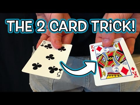 Insane 2 Card Magic Trick Revealed - EASY DIY Gimmick!