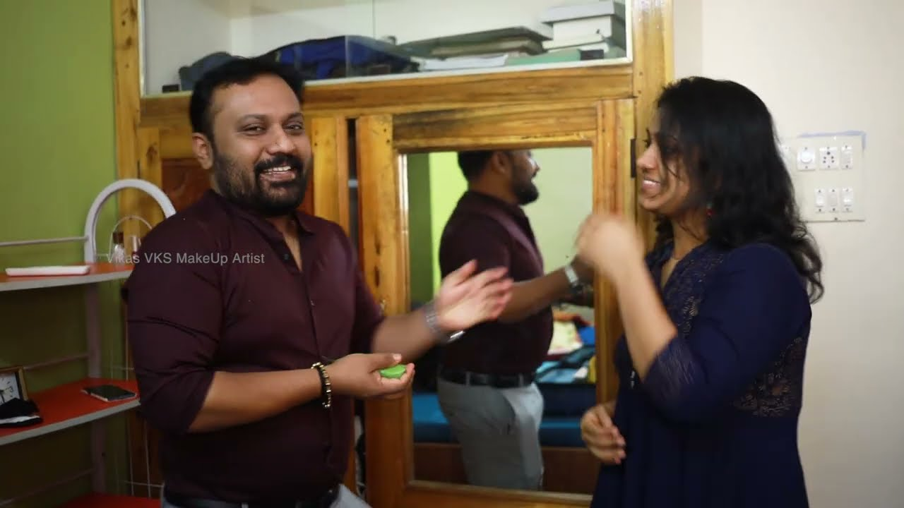 Hindu bridal makeup Kerala I Happy bride stories Kollam I Blessed day with a beautiful family