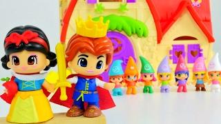 kızoyuncakları pinypon pamuk prenses ve yedi cceler hikayesi ve kukla oyunu kız ocuk videosu
