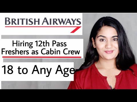 British Airways Cabin Crew India Job Vacancy, Hiring 12th Pass Freshers | International Airlines Job