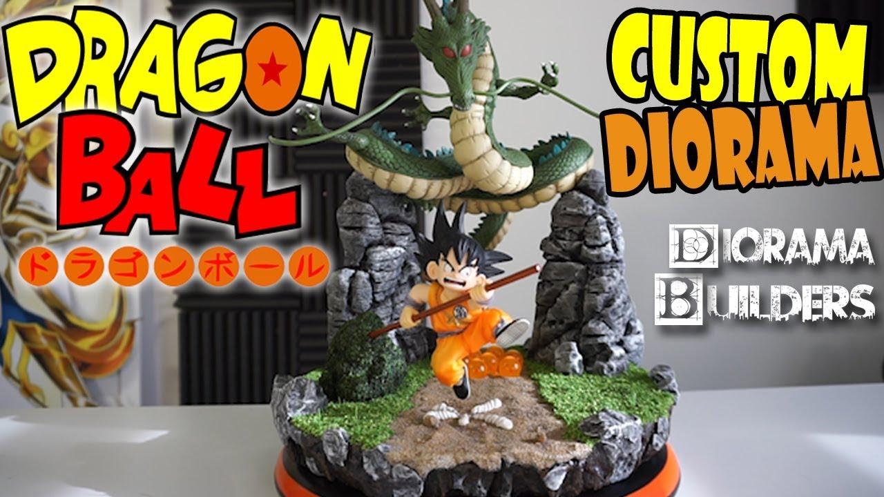 Custom Dragon Ball - Goku Shenron - Diorama LED Hero Festival