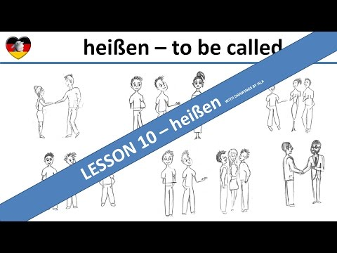 heißen - What's your name? - Learn German (Lesson 10) - Complete A1-B1 Course - Deutsch lernen streaming vf