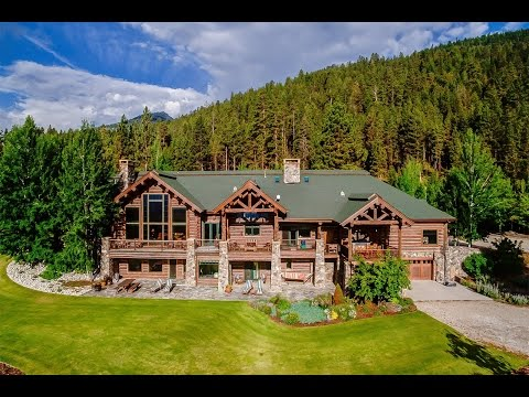 Exquisite Log Home In Victor, Montana