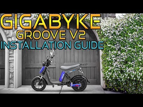 a219c2620b9 How to Assemble a GigaByke Groove V2 - Electric Bicycle Set Up Guide -  YouTube