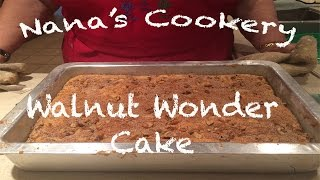 Coffee Cake - Walnut Wonder Cake Nana's Cookery Tips & Tricks